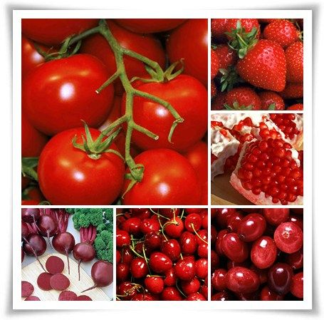 ผลไม้สีแดง
