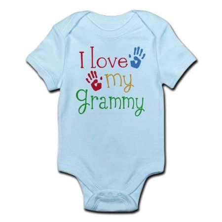 fcb411241 CafePress - I Love Grammy Infant Bodysuit - Baby Light Bodysuit, Multicolor