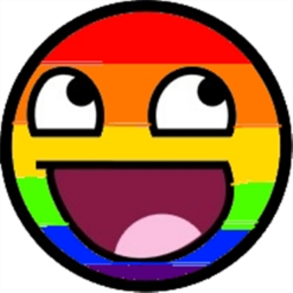 epic faces Rainbow Epic Smiley for, a Decal by