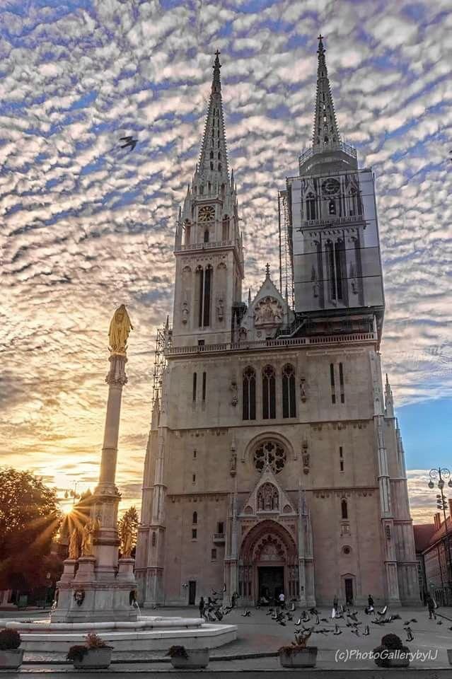 Zagreb Cathedral Zagreb Croatia Croatia Beach Croatia Pictures