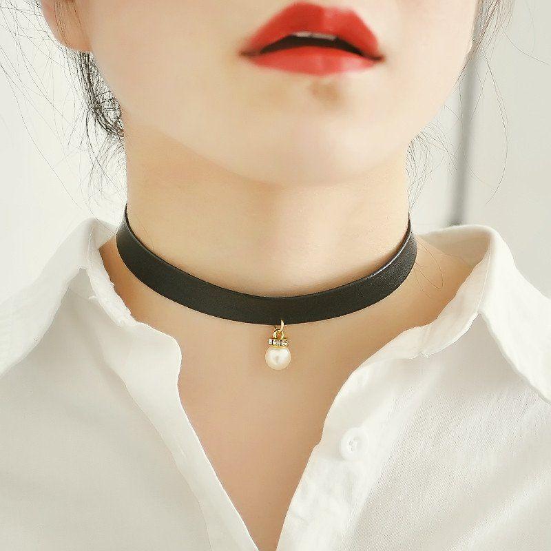 Choker Wide Ribbon Velvet Leather Neck Jewelry Women Tie Up Vintage Necklace