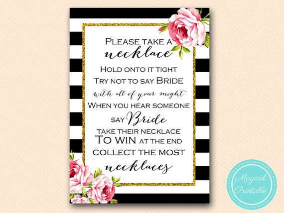 dont say bride take a necklace game black by magicalprintable