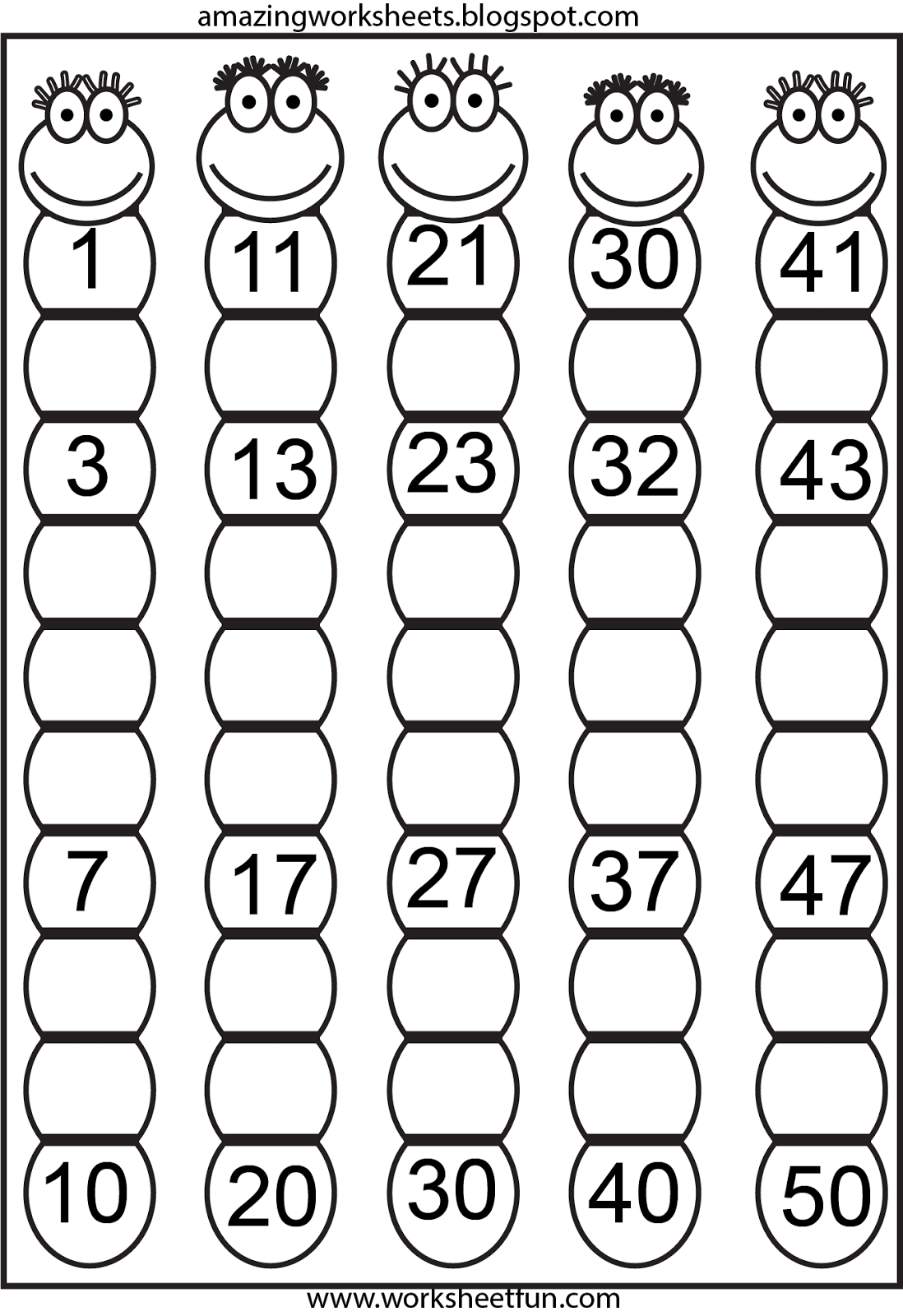 Hindi Numbers 1 To 20 Worksheet