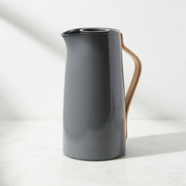 Stelton Emma Grey Vacuum Jug + Reviews | Crate and Barrel