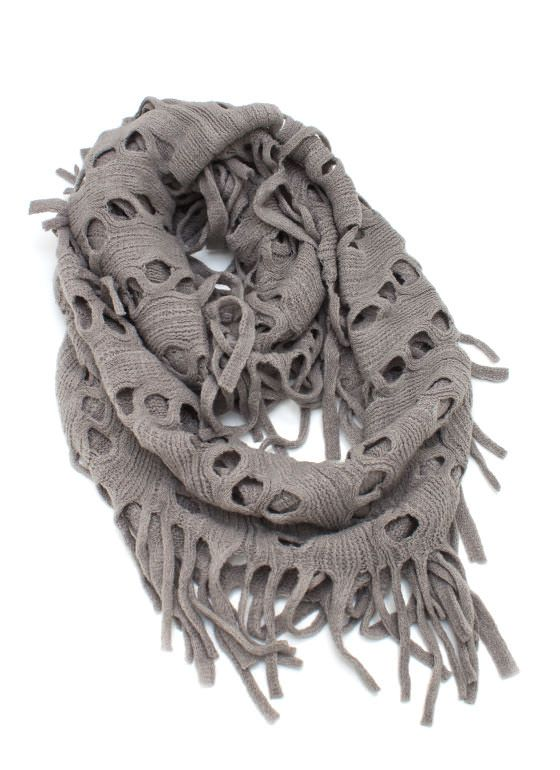 perforated knit scarf $14.40