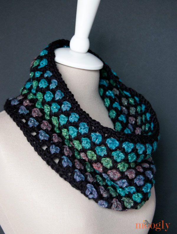 Moroccan Midnight Cowl: free #crochet pattern! | Schals häkeln ...