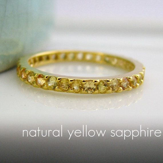 026618d28c350 14K Solid Gold Eternity Yellow Sapphire Engagement by 360Diamonds ...