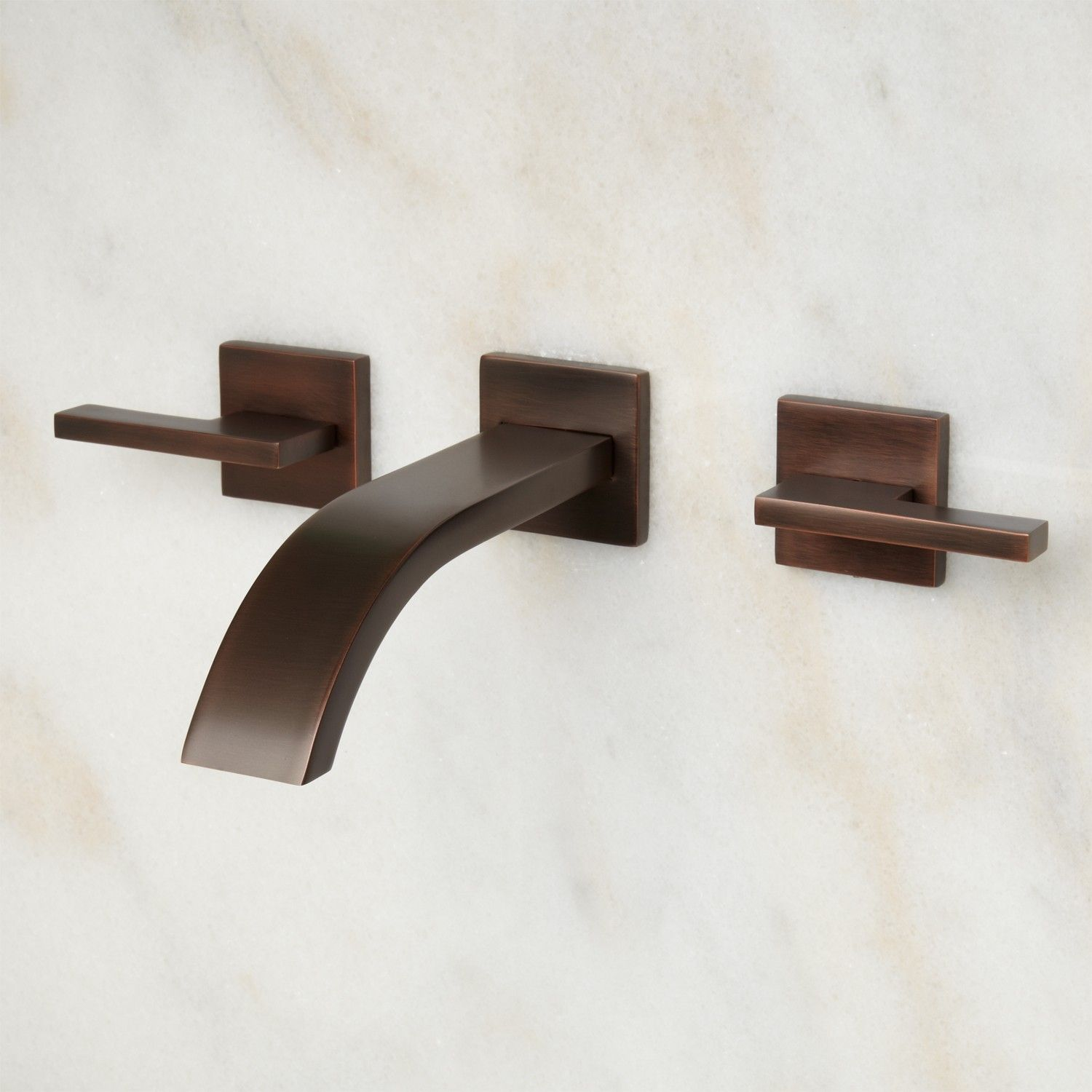 Ultra Wall-Mount Bathroom Faucet - Lever Handles | Bathroom sink ...