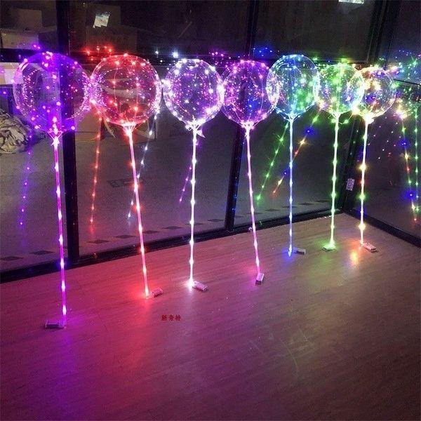 3Pcs LED Light Transparent Balloon Wedding Birthday Xmas Party Lights Decoration