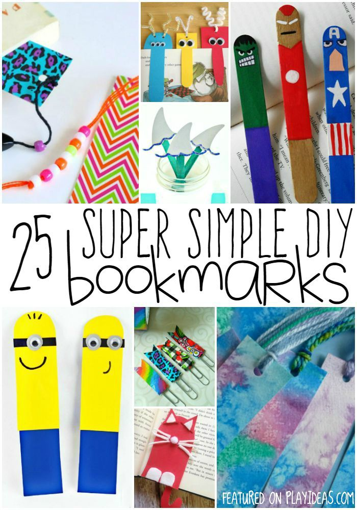 25 diy bookmarks for kids bookmarks reading time and craft How to make a simple bookmark