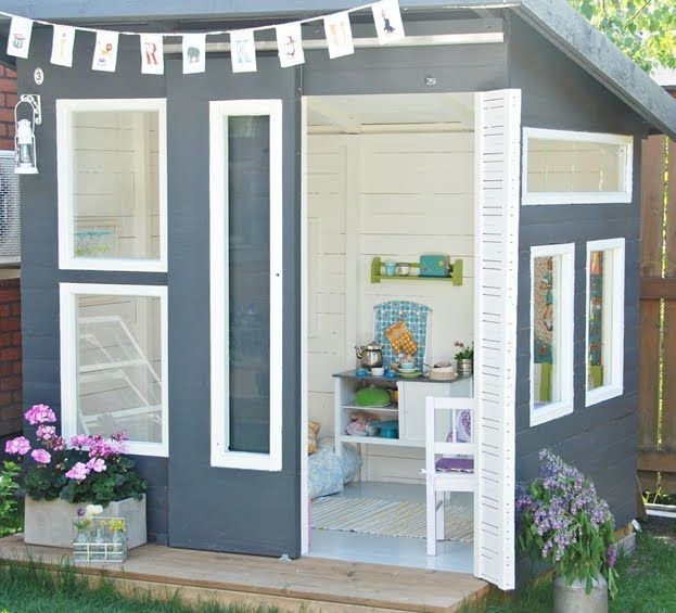 Another favorite playhouse for the girls What a perfect child space - casitas de jardin para nios