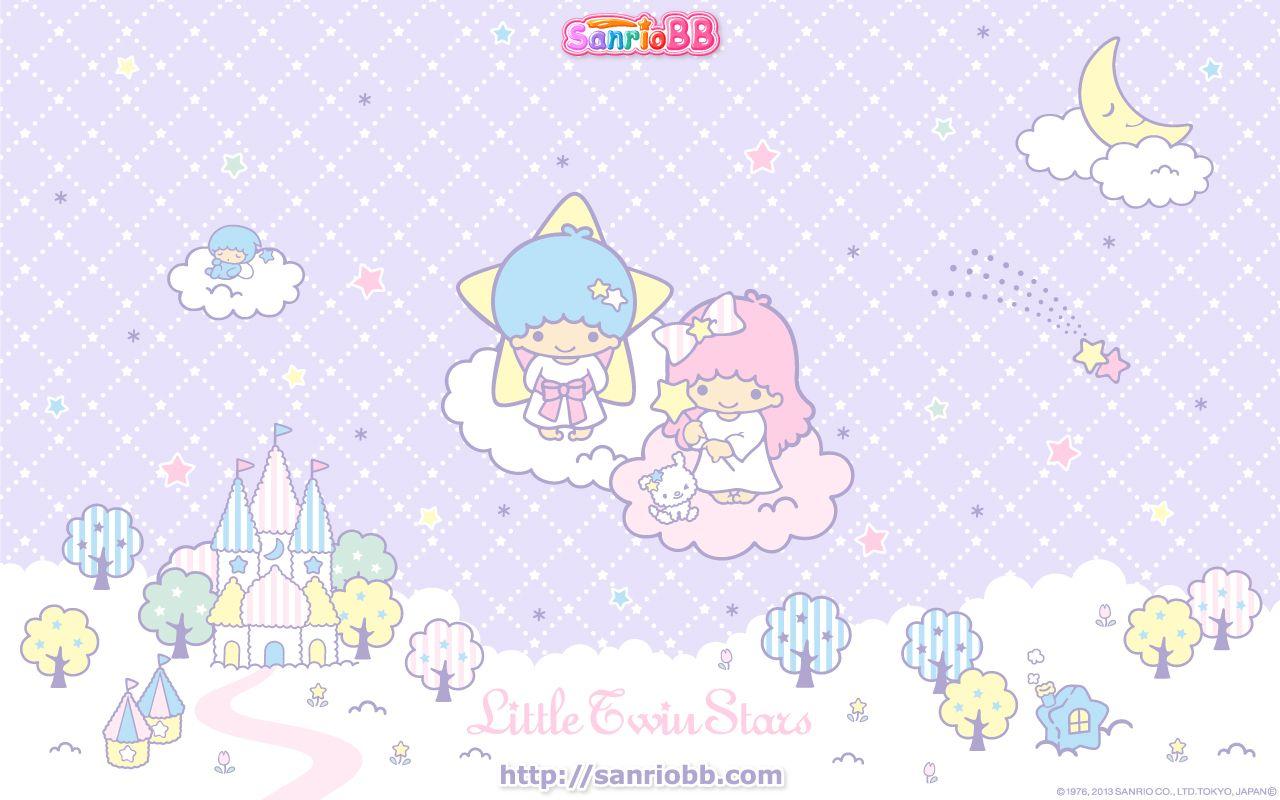 Little Twin Stars Wallpaper 2013 五月桌布 日本 SanrioBB Present ... Little Twin Stars Wallpaper 2013