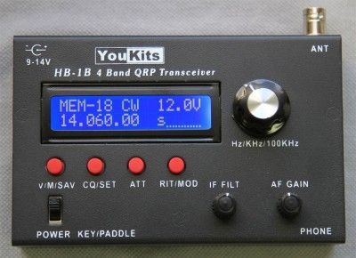 HB1B Four Band CW QRP Transceiver - 80-40-30-20 Meters | Ham