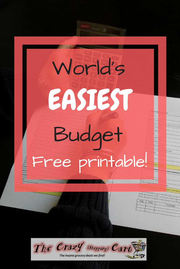 world s easiest budget free printable finances in your 20 s