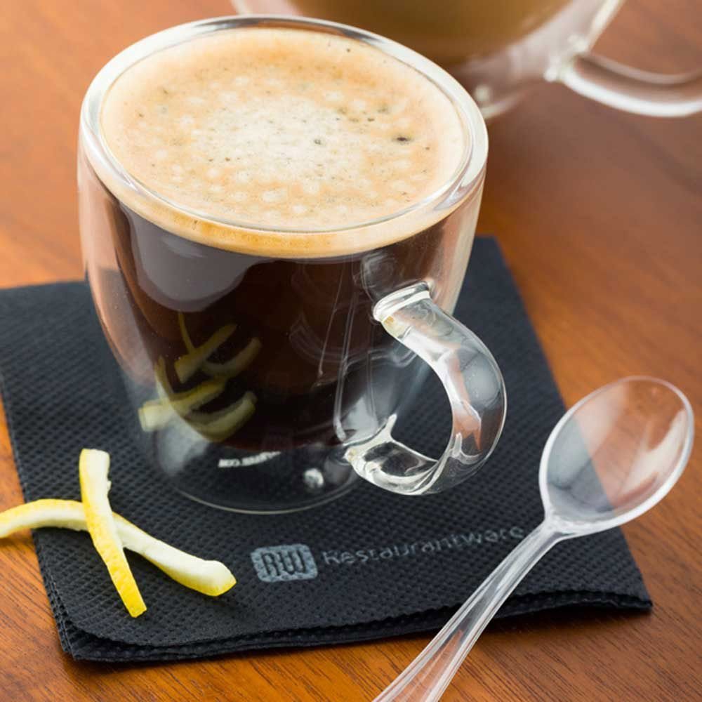 Forma 3 oz Round Glass Espresso Cup - Double Wall, with ...