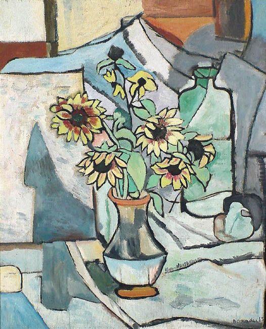 Flower Pot(1965) - Oil on Canvas - Aldo Bonadei.