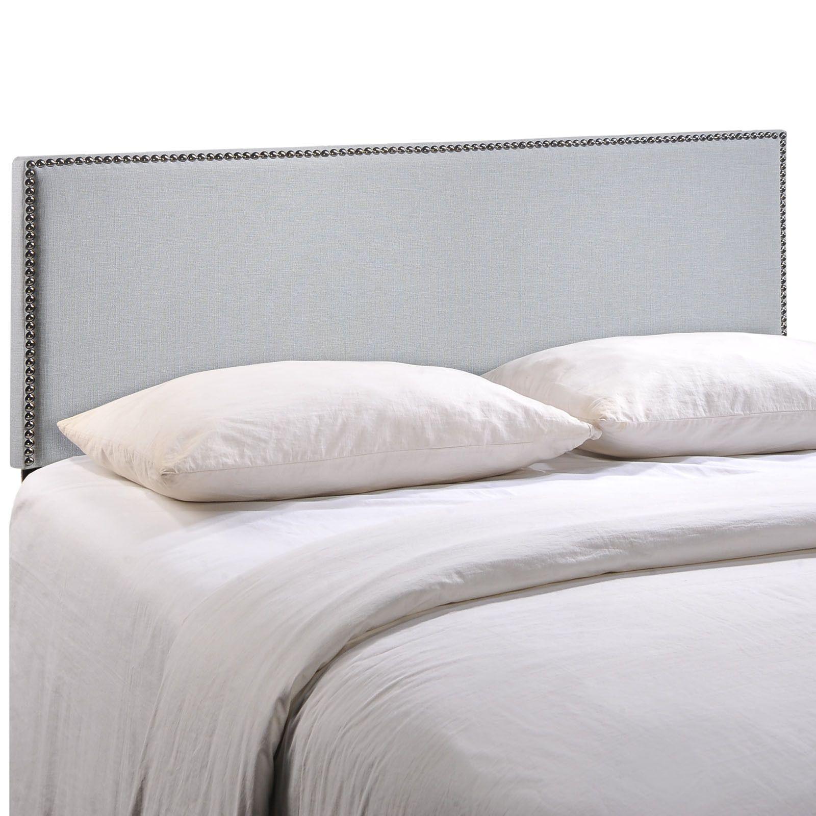 Region Queen Nailhead Upholstered Headboard - 16696319 - Overstock ...