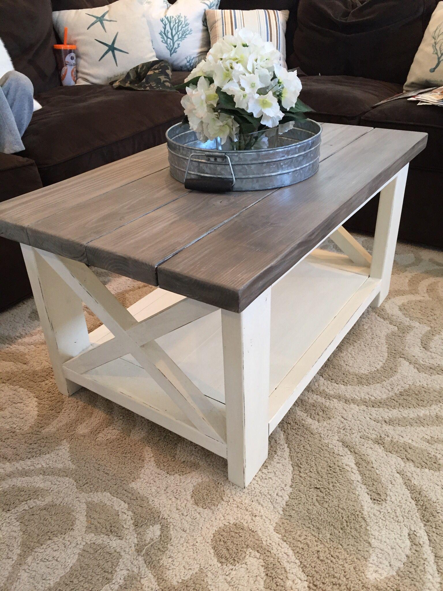 Farmhouse table made by my hubby coffee table farmhouse