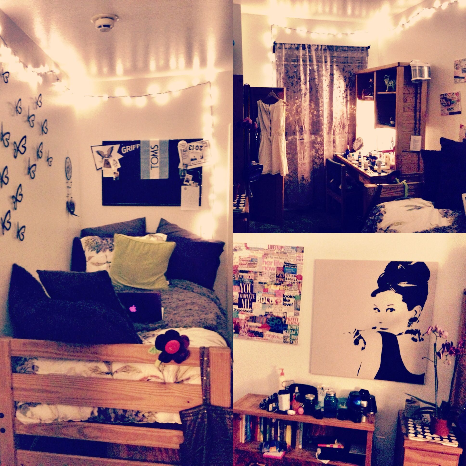Dorm decor lights - Dorm Room Purple White And Black String Lights Glam Fabulous