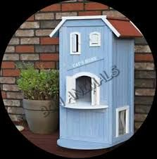 Resultado de imagen de casetas para gatos de madera