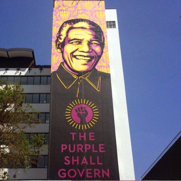 Mandela Mural by Shepard Fairey