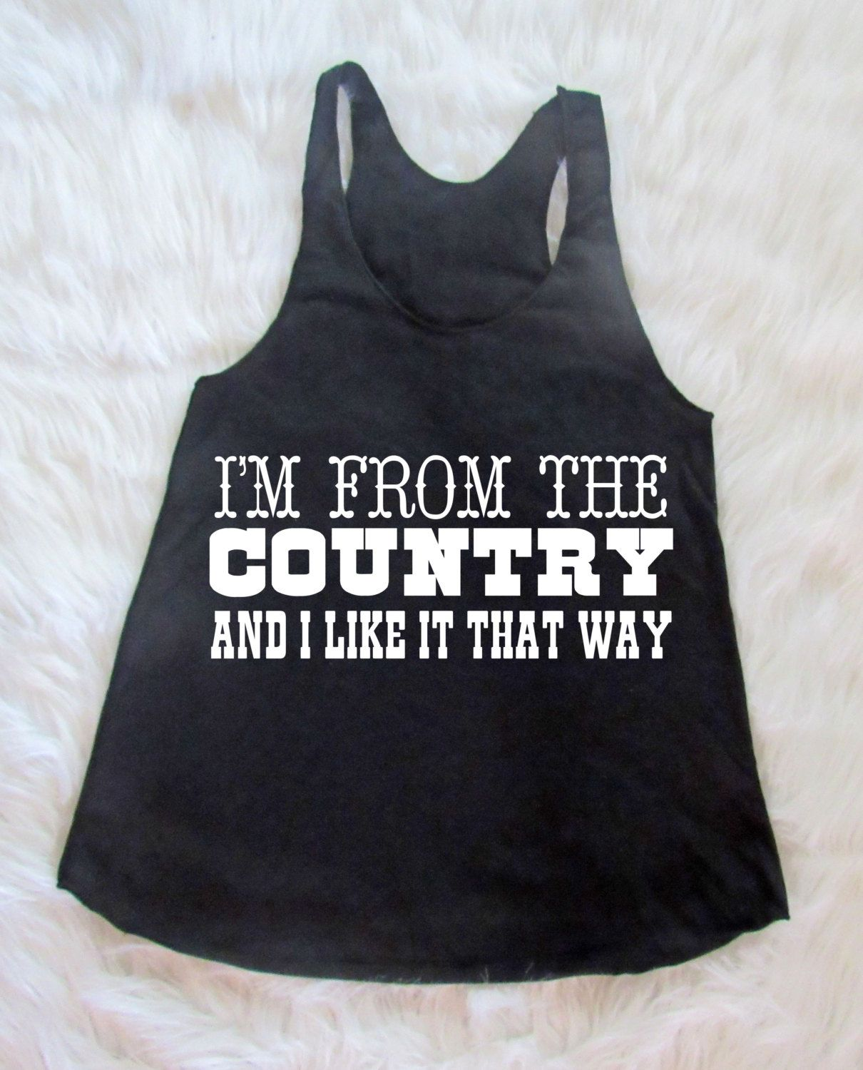 d5f4c3d32e9454 I like the sound of that  Country Tank Top  Racerback Tank by  dirtroadavenue on Etsy