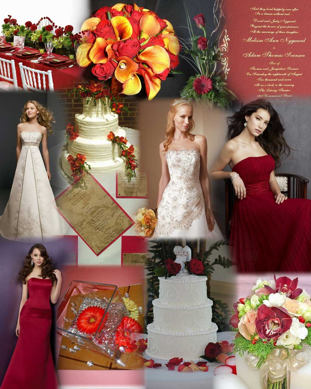 Red And Gold Wedding Theme We Have Used Mori Lee Dress 2108 In