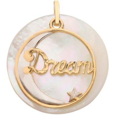 Dream Moon Charm 14K Gold