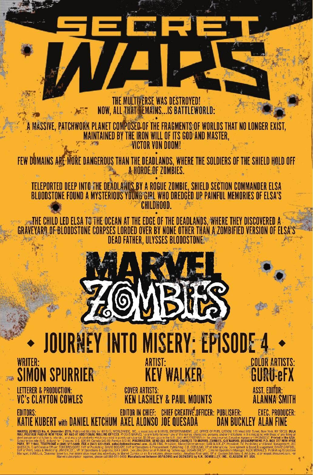 Preview: Marvel Zombies #4, Marvel Zombies #4 Story: Simon Spurrier Art: Kev Walker Cover: Ken Lashley Publisher: Marvel Publication Date: October 14th, 2015 Price: $3.99 ...,  #All-Comic #All-ComicPreviews #Comics #KenLashley #KevWalker #Marvel #MARVELZOMBIES #previews #SimonSpurrier