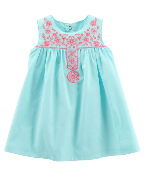 78ad757b0 Baby Girl Sleeveless Woven Dress from Carters.com. Shop clothing &  accessories from a trusted name in kids, toddlers, and baby clothes.