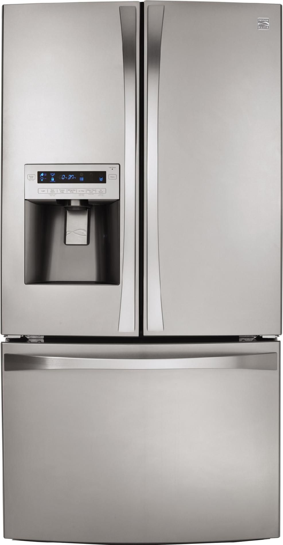 inspiring refrigerator xfile ft elite kenmore doors and cu ge door bottomzer french inch of trend