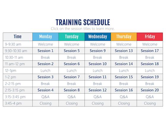 This Interactive Training Schedule Storyline* Template Is Perfect For  E Learning Courses That Are