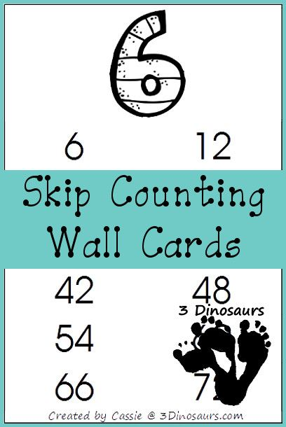 FREE Skip Counting Wall Cards | Skip counting, Maths and Homeschool