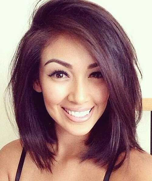 Awesome Cool 25+ Latest Long Bobs For Round Faces | Bob Hairstyles 2015    Short