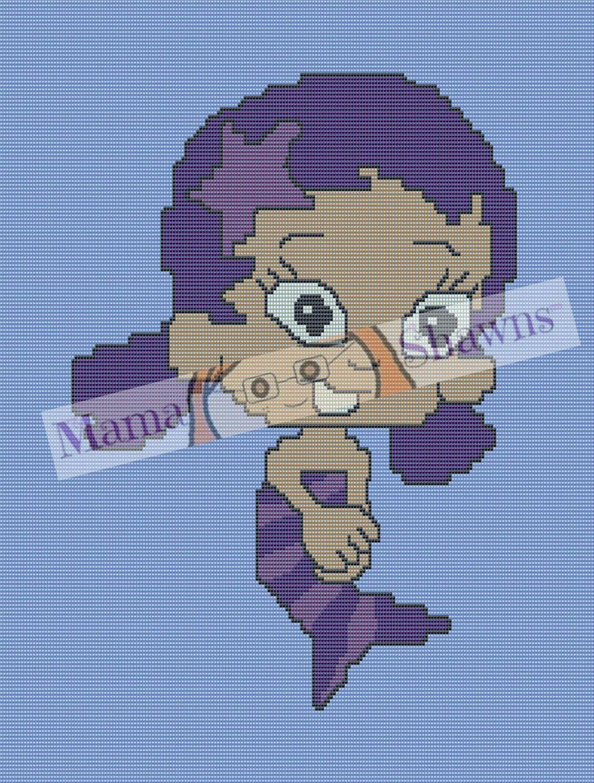Oona Inspired Bubble Guppy, Graphghan, Written Pattern, Crochet ...