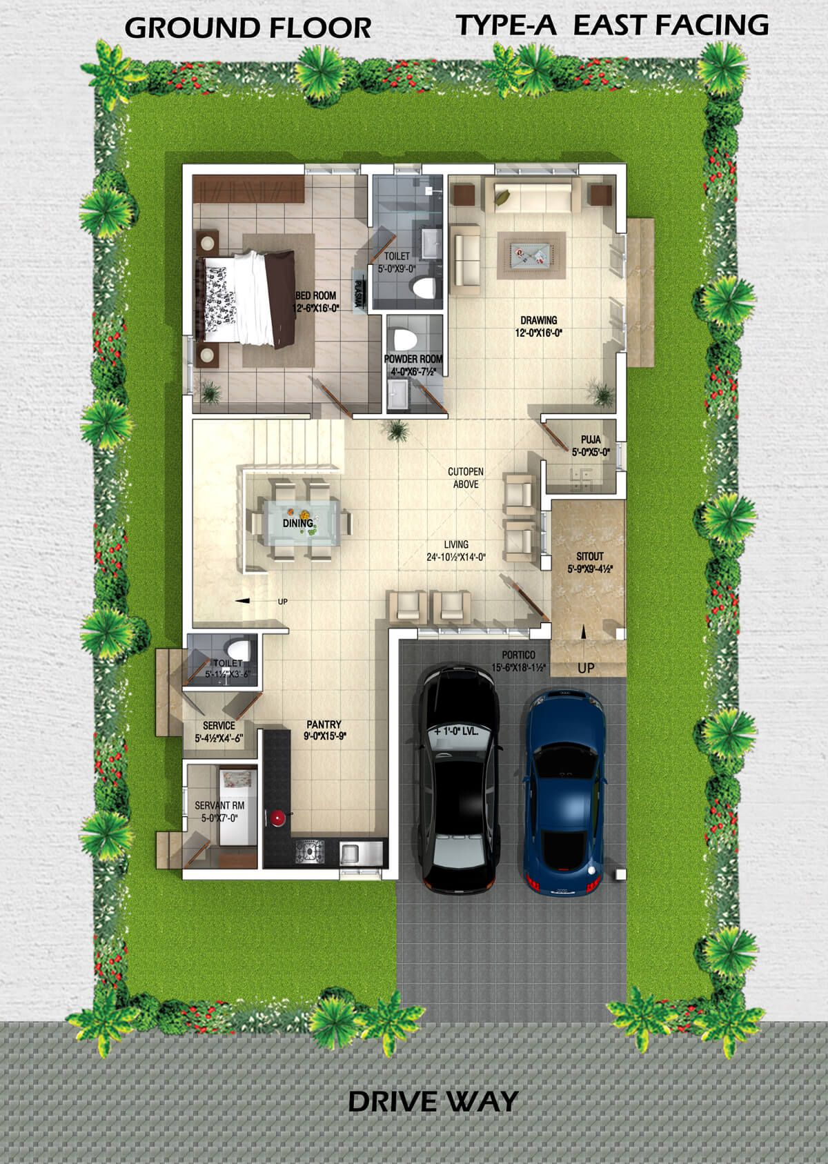 Myans Villas Type A East Facing Villas Villa, House