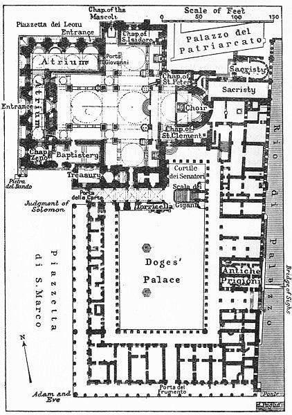 schematic layout of doge palace