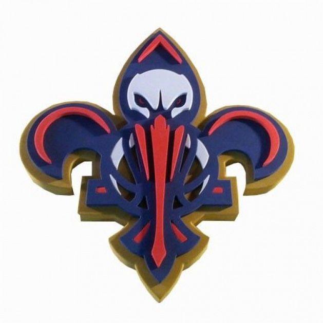 New Orleans Pelicans Bird De Lis Logo Volcanoes