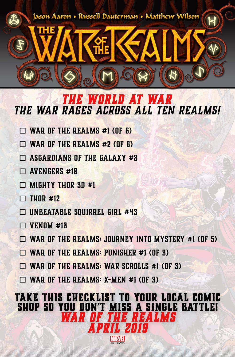 War Of The Realms All The Coverage So Far And The Books You Ll Need To Read Books War Comic Books
