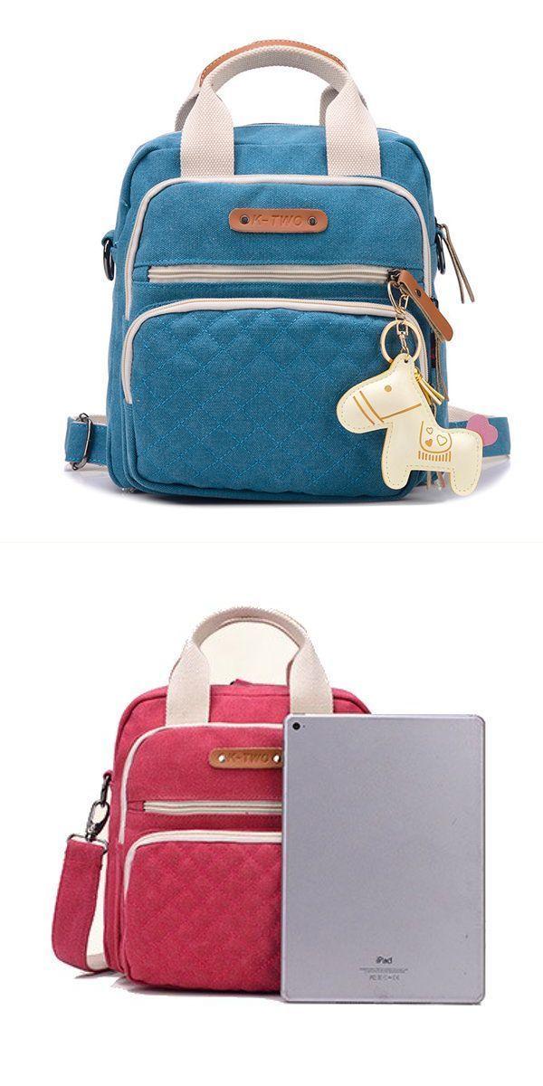 Women vintage canvas handbag casual backpack cute horse shoulder bags backpack anti theft #$3 #backpacks #backpack #22 #rifle #p #rod #backpack #t #ball #backpack