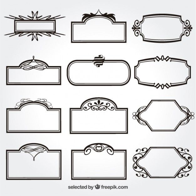 Download Ornamental Frames Collection For Free Drawing Frames Text Frame Geometric Origami