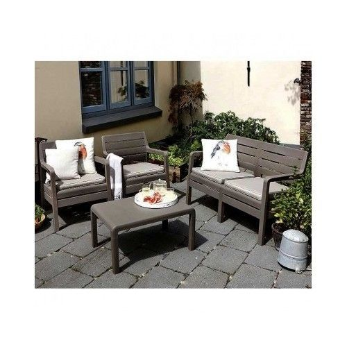 Oasis 4 Seater Garden Lounging Table And Chairs Set: Sofa Lounge Set Garden Furniture Patio Table Couch Chair