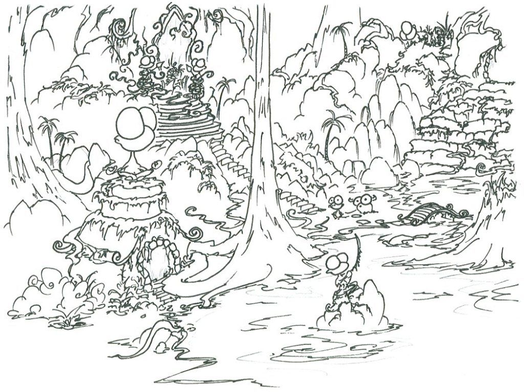 Rainforest Coloring Pages For Kids Collection Best Animals