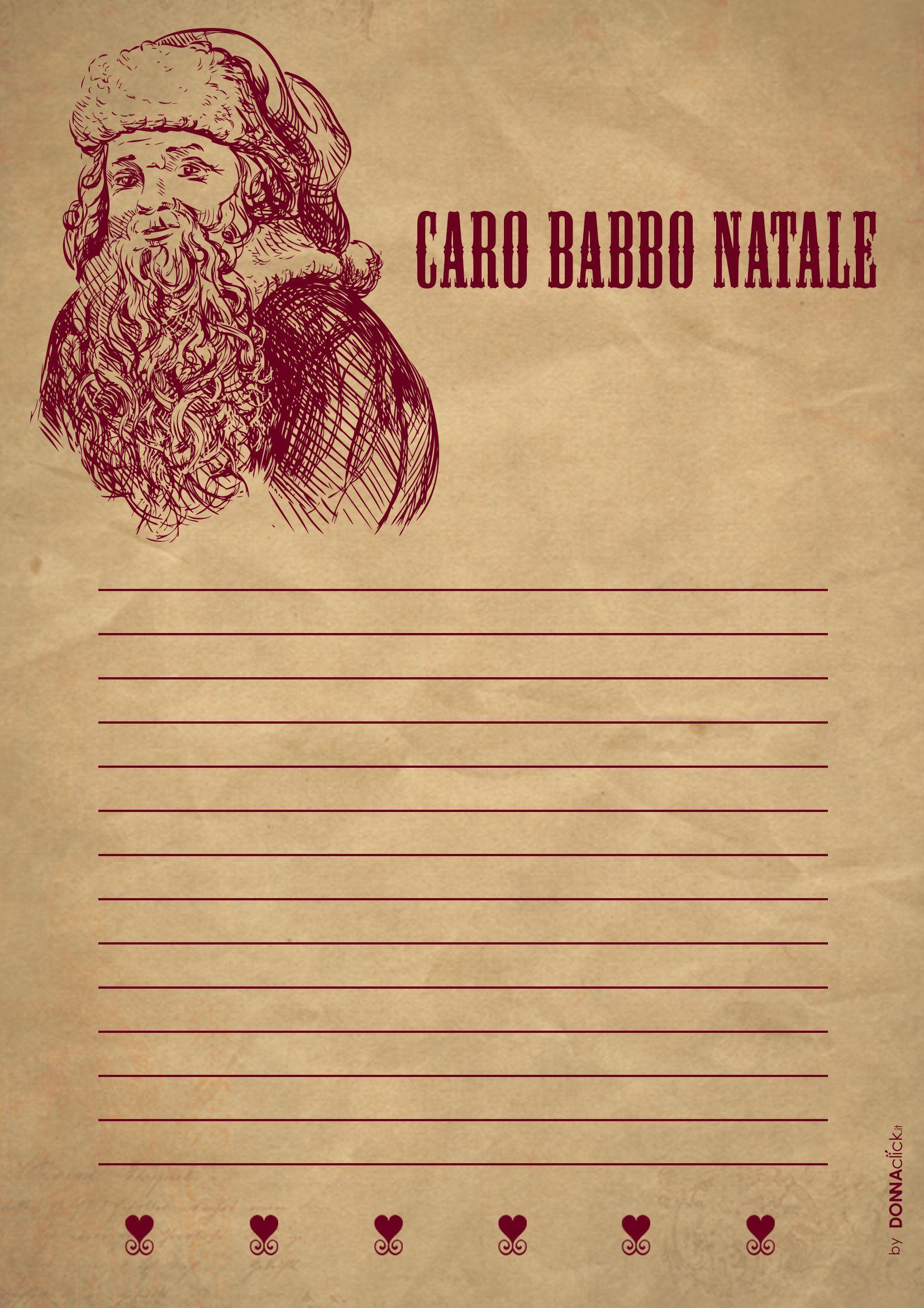 Le Lettere Di Babbo Natale.Letterina Vintage Per Babbo Natale Lettere Di Babbo Natale Babbo