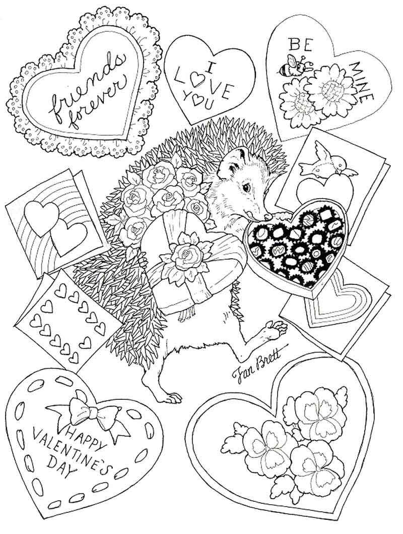 Happy Valentines Day Coloring Pages Porcupine Valentines Day Coloring Page Valentines Day Coloring Coloring Pages
