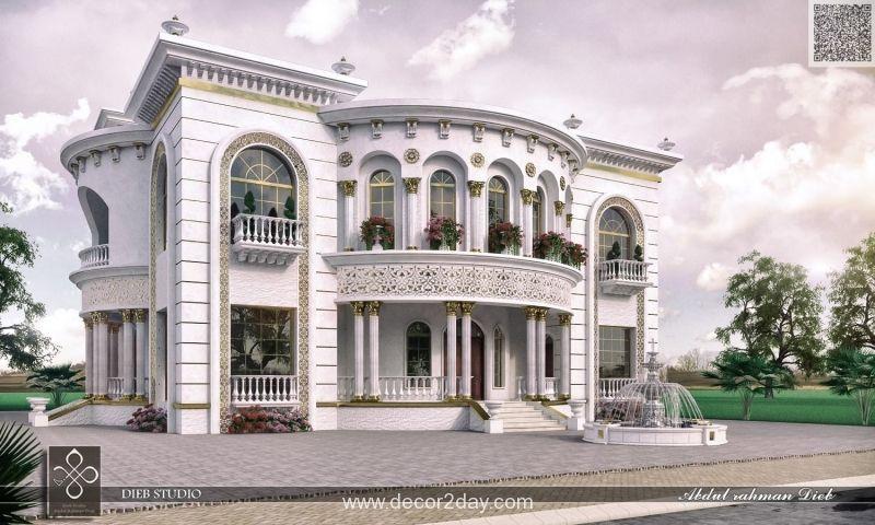 مجموعة من تصميمات الفيلات والعمارات السكنية واجهات ذات الطراز الكلاسيكي والذي يعطي الطابع الت House Design Pictures House Outside Design Classic House Exterior
