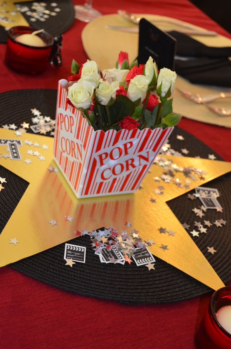 Centerpiece At Academy Awards Party Movie Party Ideas
