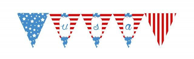 4th of July Bunting | Free Printable