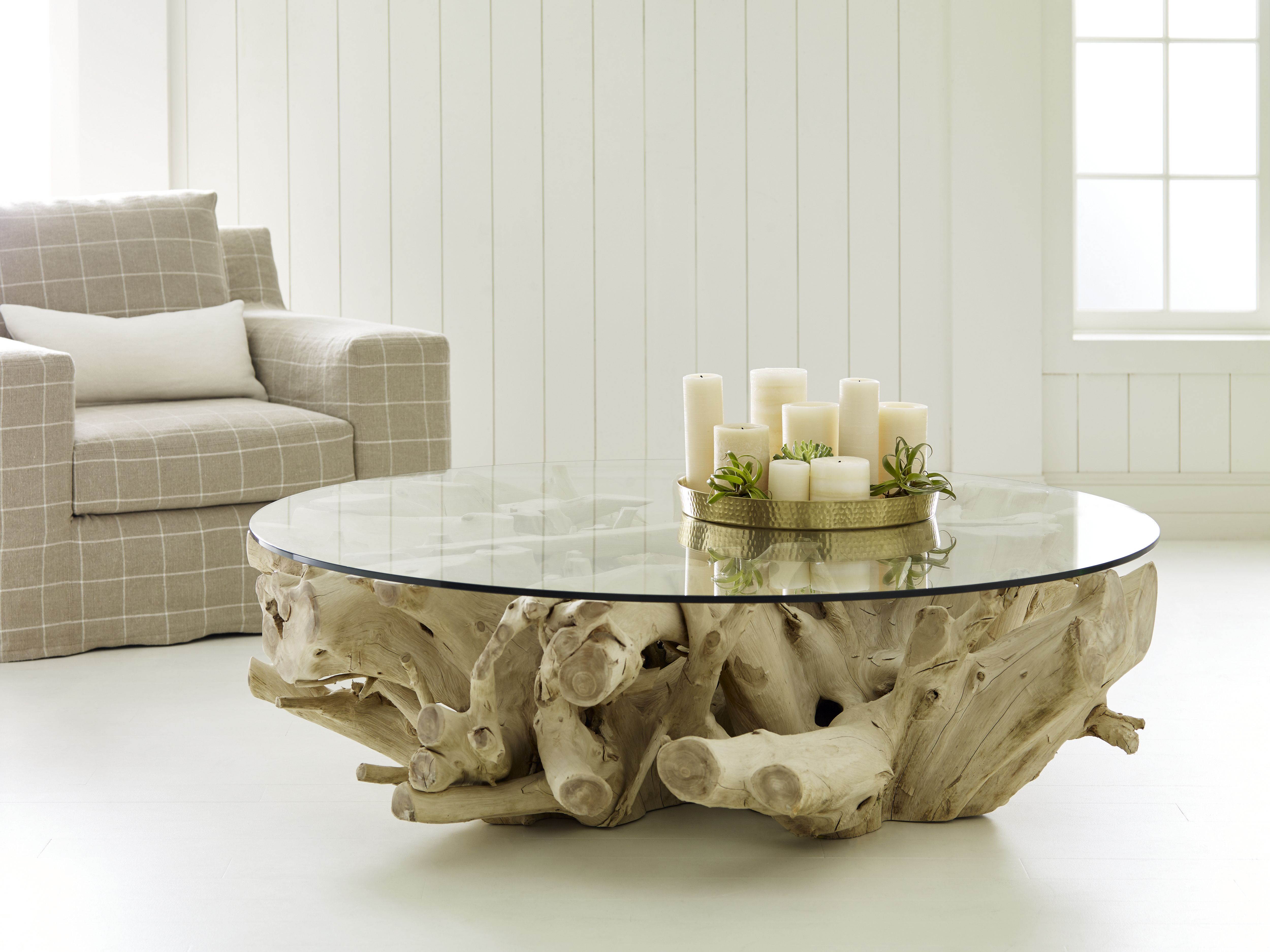 One Of A Kind Bleached Teak Coffee Table #Origins #Bleach
