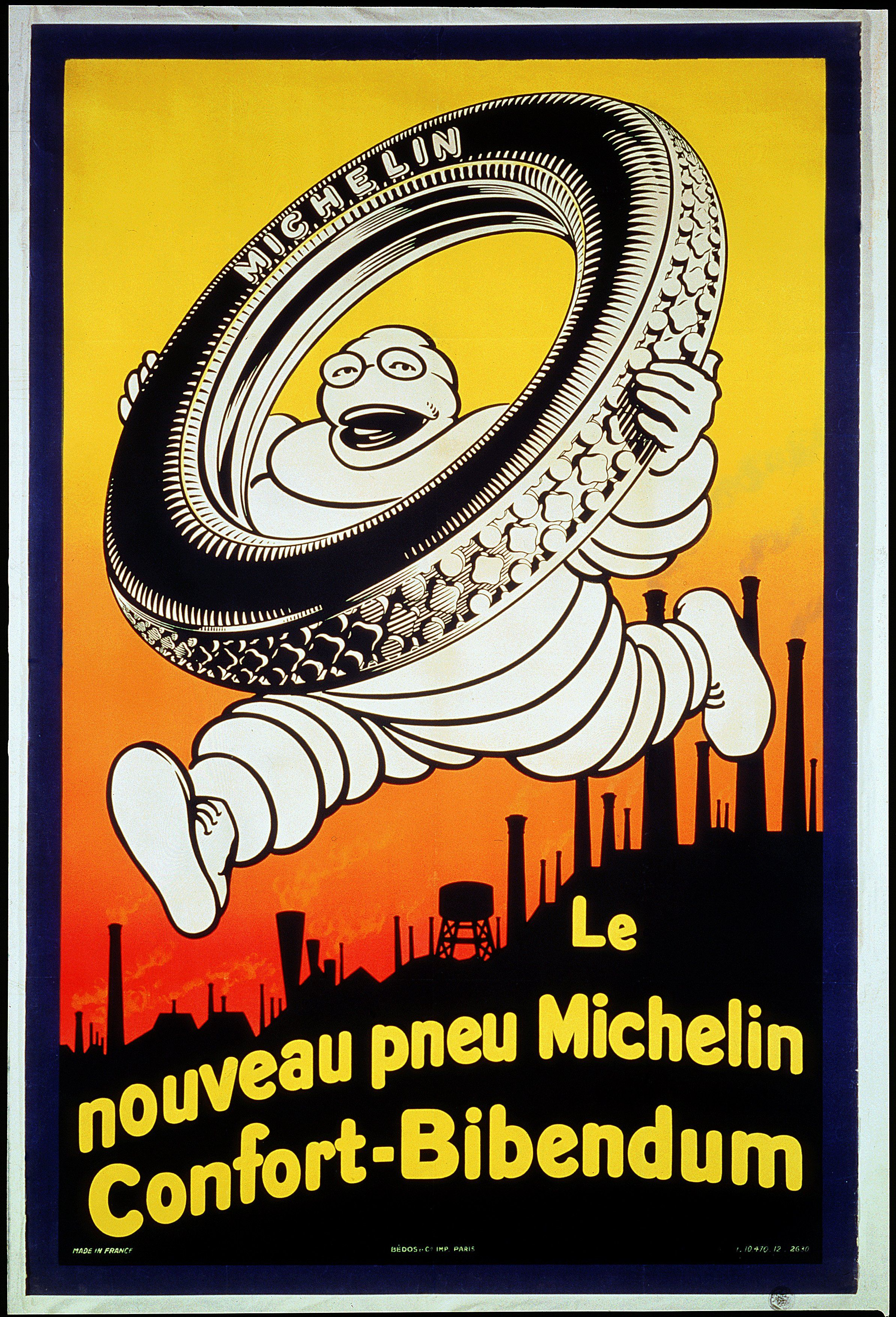 Sign Affiche Advertising Michelin 1926Metal Publicité F1JcTKl